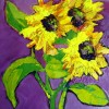 Textured Sunflowers