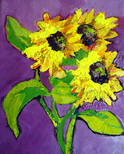 Title: Textured Sunflowers Media: ? Size: ? Price: $NFS