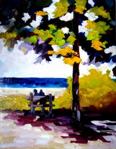 Time out in Northport 8x10/oil/$75.00