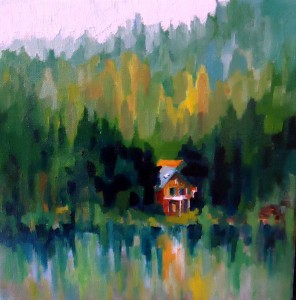 10x10 on gallery wrap canvas  oil  $68.00