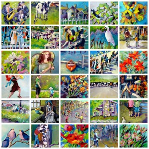 This is the collage of the 30 paintings